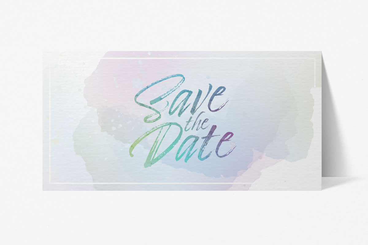 save the date card - VIP Event - dare graetly pastell